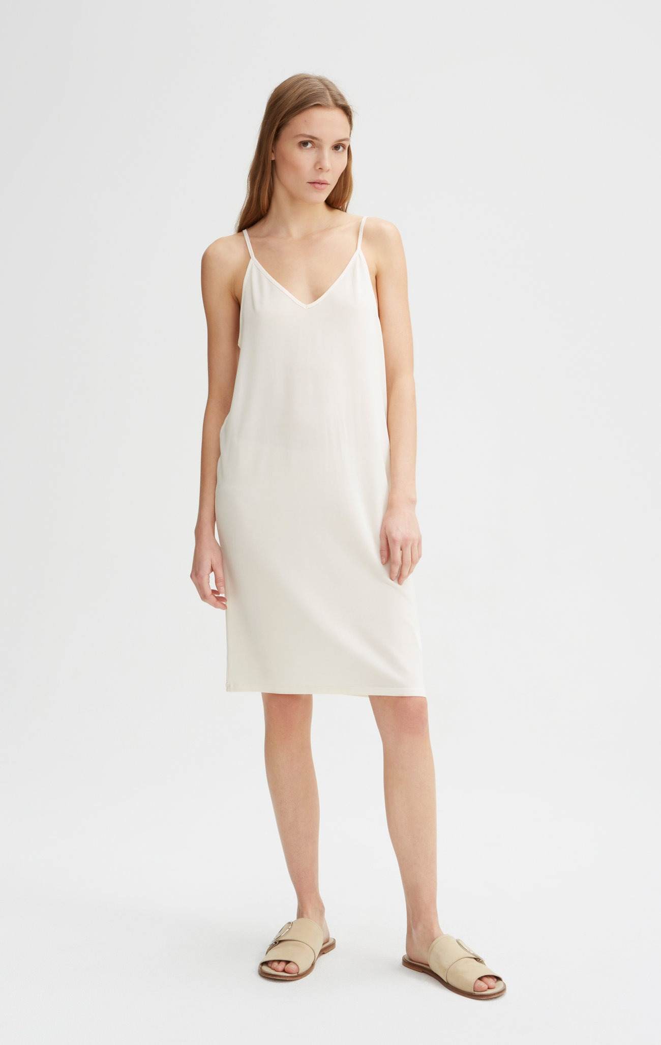 Rodebjer - Winifred Slip Dress - Off White - Front